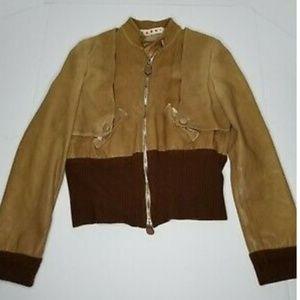 Marni Women' Brown Zip Up Long-Sleeve Jacket